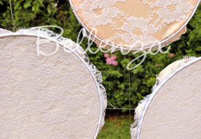 Embroidery Hoops! for Wedding Backdrops