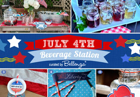 HOW-TO: Set Up a 4th of July-themed Beverage Station at Your Wedding