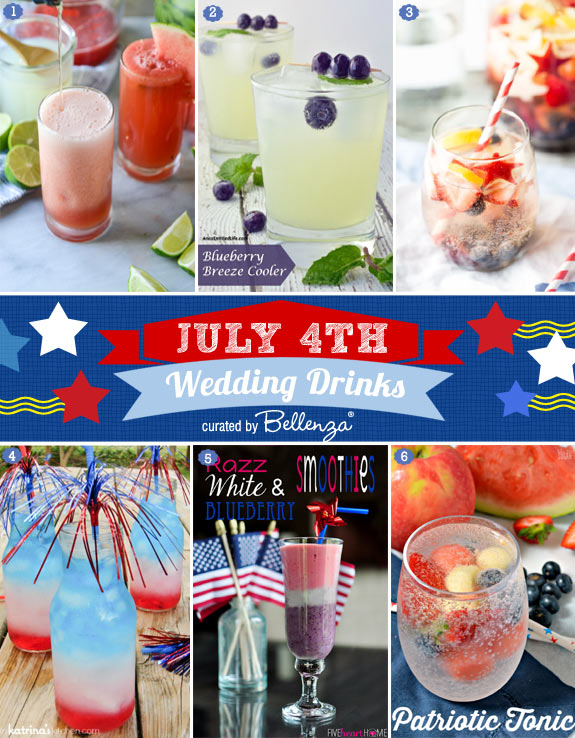 Wedding Drinks for July 4th that are Alcoholic and Non-Alcoholic
