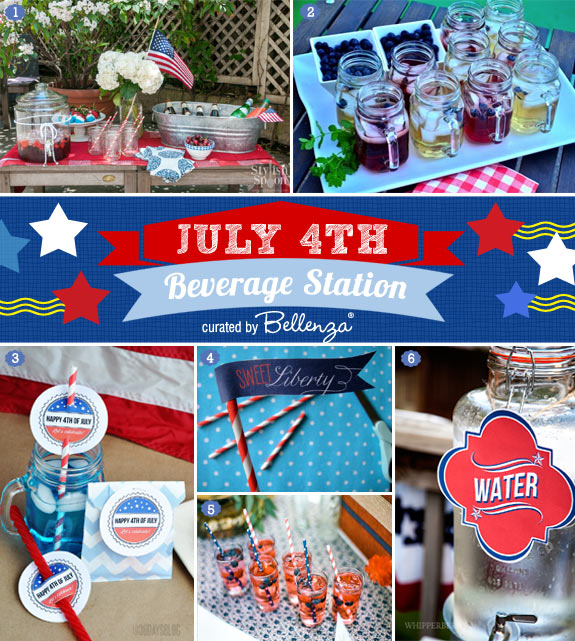 HOW-TO Set Up a Wedding Beverage Station for a 4th of July-themed Reception