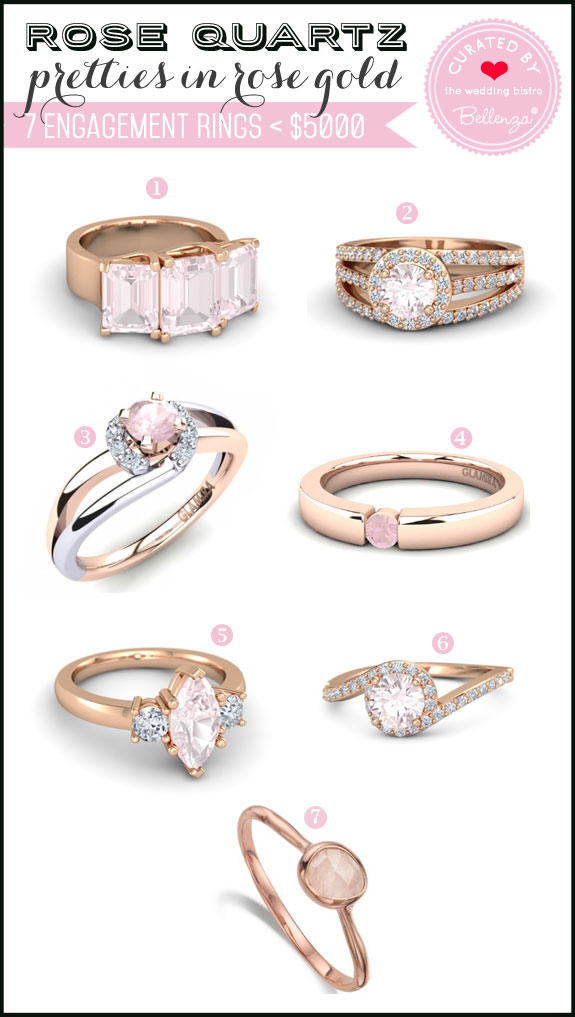 Engagement Ring Trend. Rose Quartz on Rose Gold