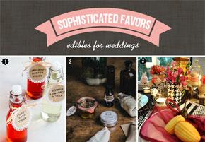 Sweet edible favors for summer weddings