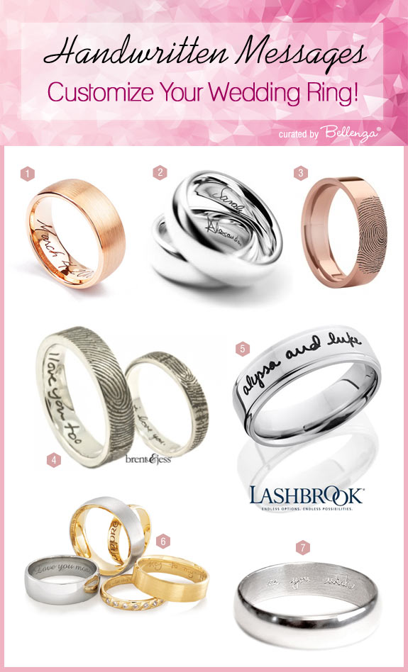 Personalize Your Wedding Ring With Engraved Handwriting Or Fingerprints