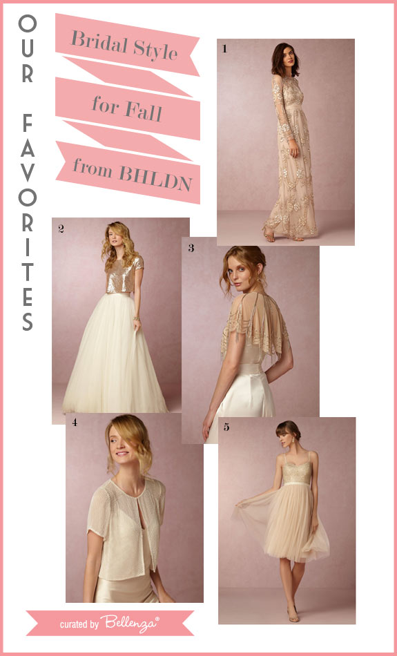 Bhldn fall featured finds for wedding dresses