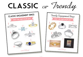 Should you go with a classic or trendy engagement ring?