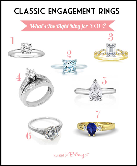 Classic wedding rings styles
