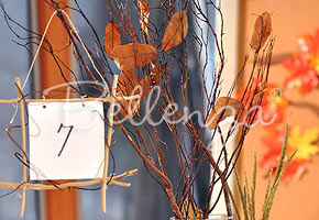 How to Make Table Numbers with Twigs for Fall Weddings!