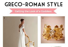 Greco roman bridalstyle