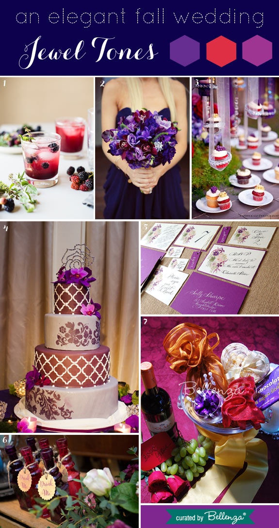 Rich Jewel Tones of Purple, Magenta and Royal Blue