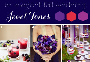 Fall Wedding Inspiration: Rich Jewel Tones of Purple, Magenta and Royal Blue