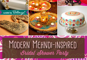 Modern Mehndi-inspired Bridal Shower: Styling a Fab Party!