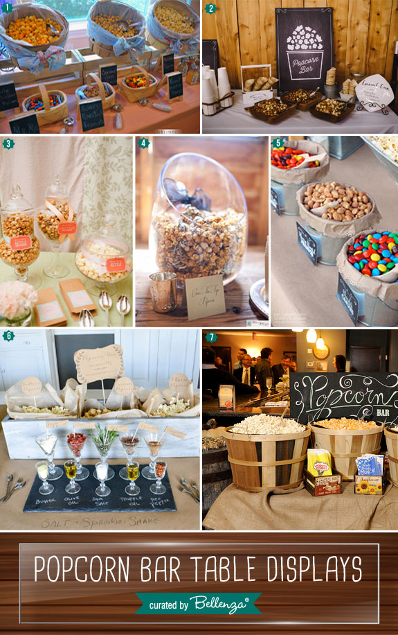 Containers for serving up popcorn to guests // popcorn bar and station displays