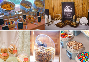 Ideas for setting up a popcorn bar at weddings