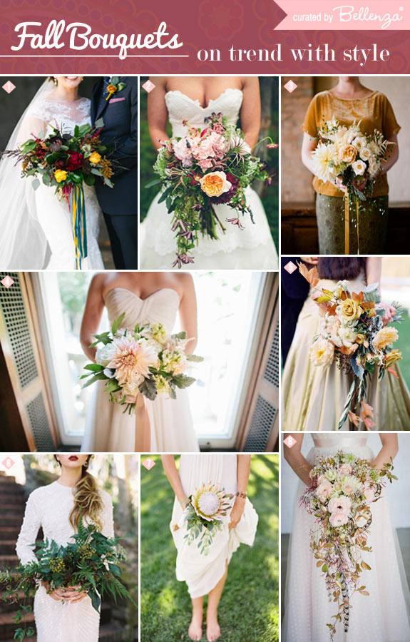 Stunning Bouquet Styles For The Autumn Bride
