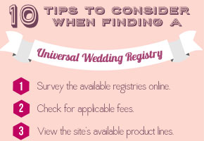 Universal Wedding Registry: 10 Tips To Consider with Infographic!