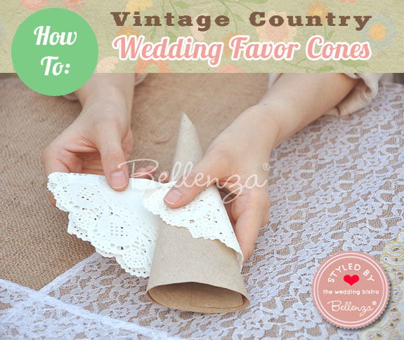 DIY Favor Cones Using Doilies