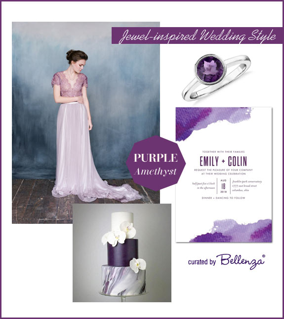 Amethyst purple wedding palette for fall weddings