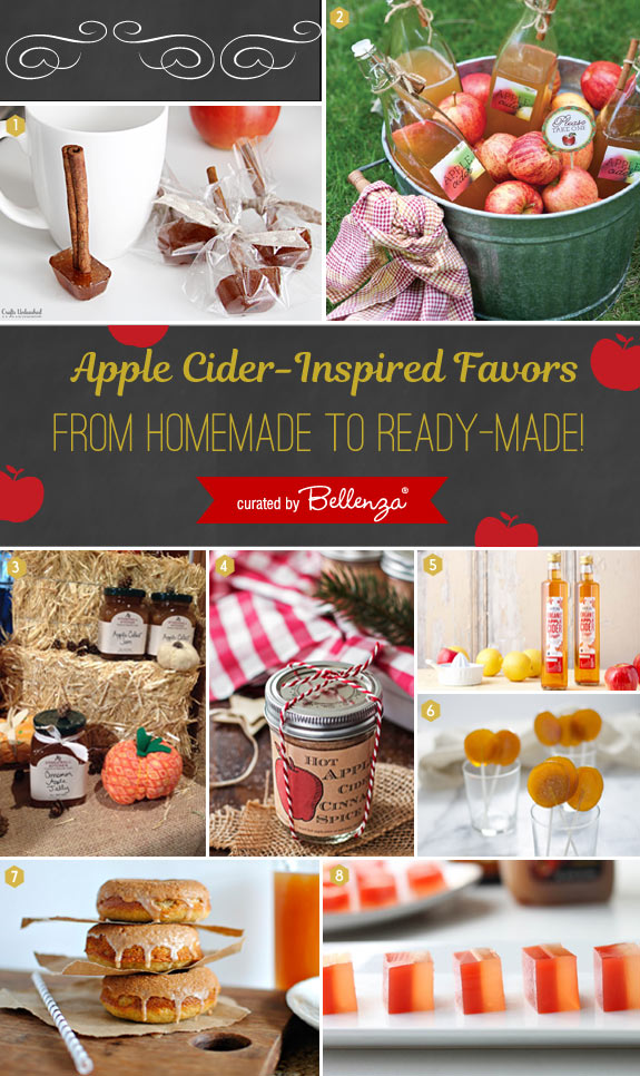Apple Cider Wedding Favors From Homemade To Ready Made Ideas