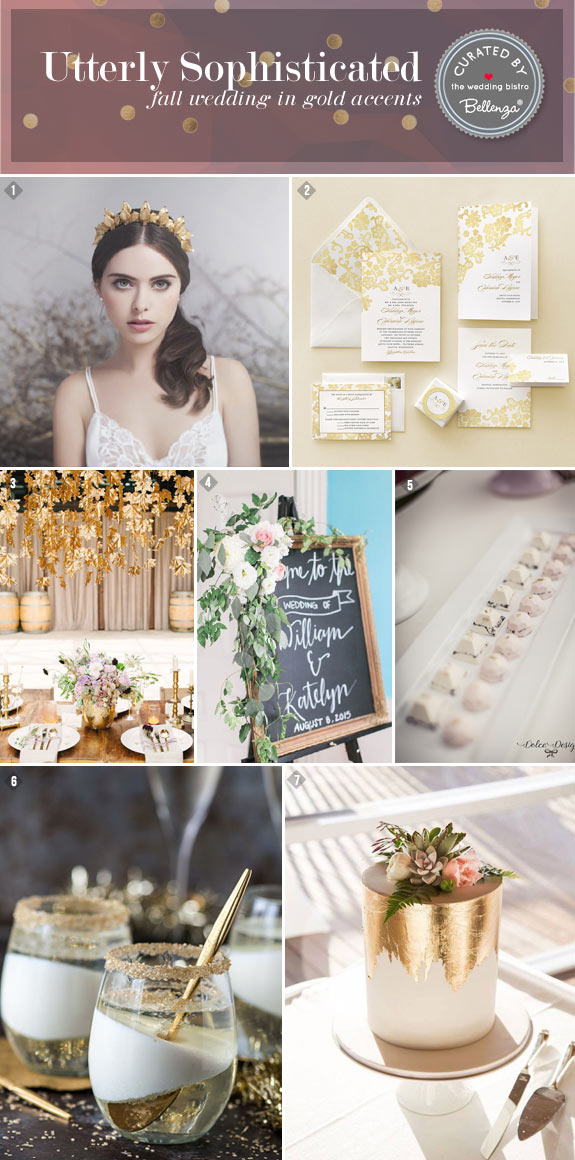 A Fall Wedding with Gold. Utterly Sophisticated with a Vintage Style!