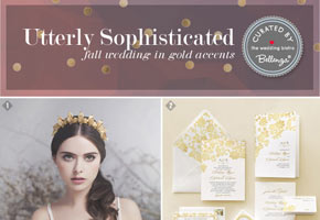 A Fall Wedding in Gold: Utterly Sophisticated with a Vintage Style!