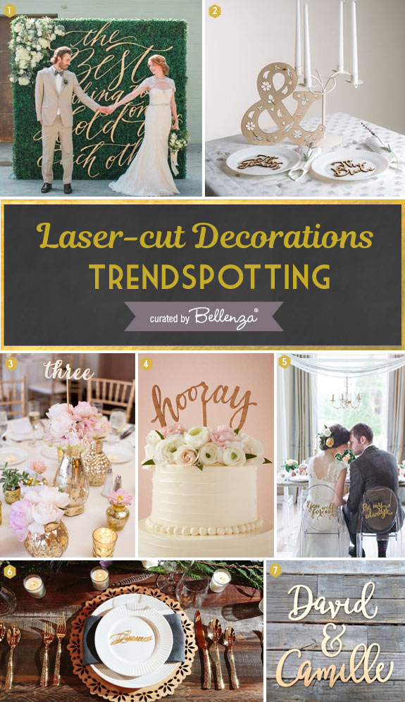 7 Lovely Laser Cut Wedding Signs, Toppers and Backdrops // Curated Finds by Bellenza.