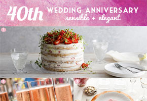 A Modern 40th Wedding Anniversary Theme with Champagne & Cake