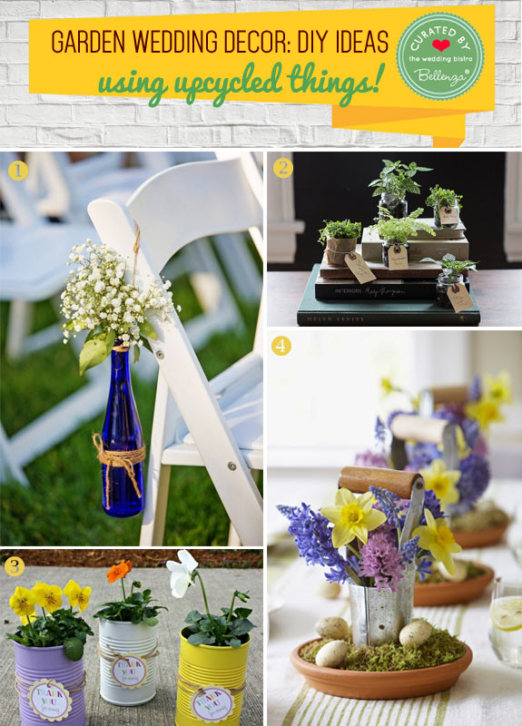 DIY decorations for a garden wedding