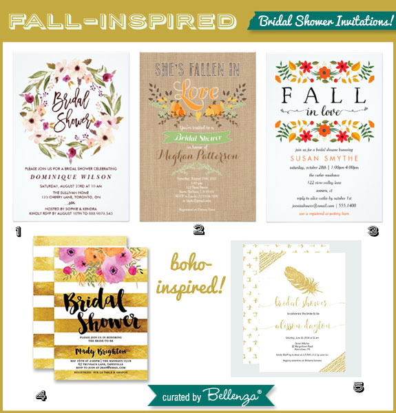 Boho-inspired Invitations for a Fall Bridal Shower
