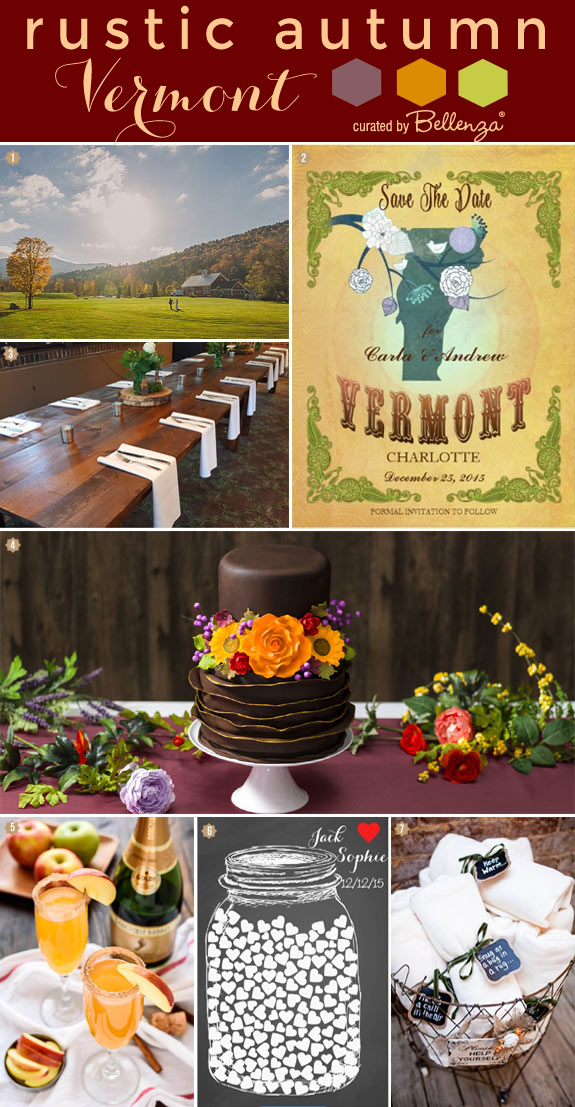 Styling Ideas for a Vermont-inspired Destination Wedding for Fall