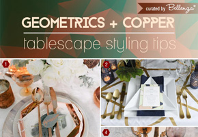 How to Blend Geometrics  + Copper for a Trendy Fall Wedding Tablescape