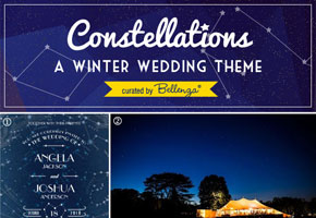 Starry themed winter wedding