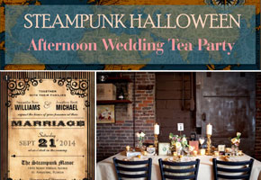 Styling a Steampunk Afternoon Wedding Tea Party for Halloween