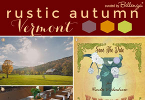 Fall in Vermont: A Destination Wedding with Rustic Styling Tips!