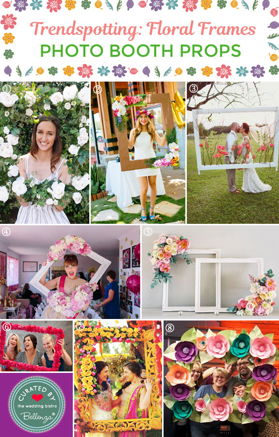 Ideas for Photo Booth Flower Frames