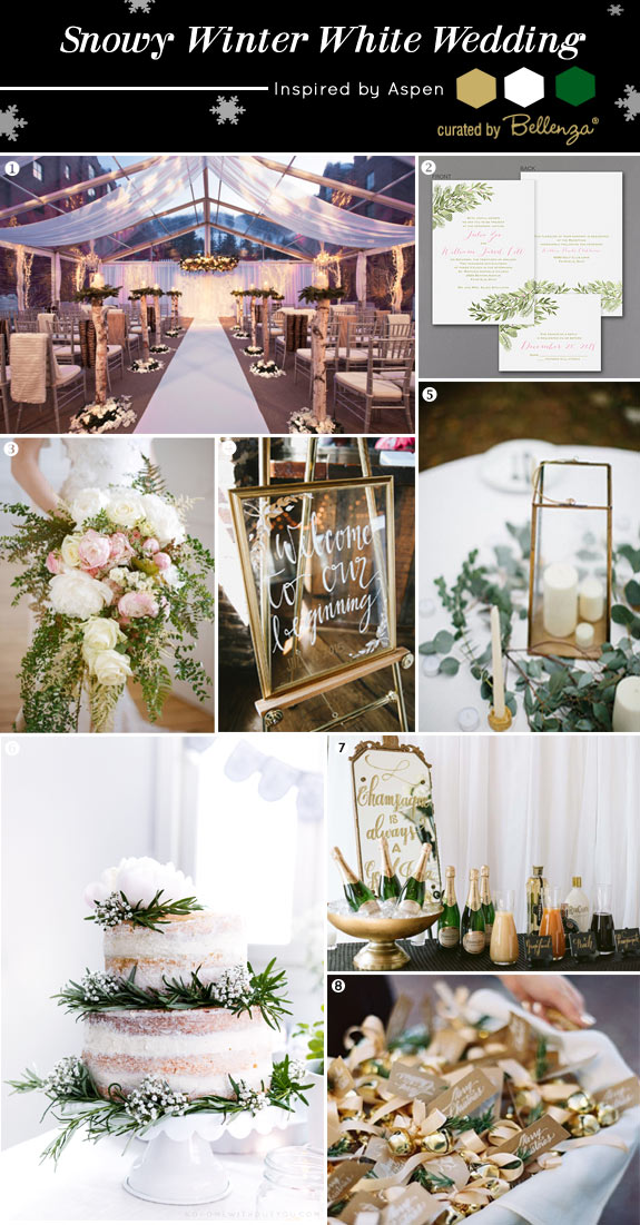 Rustic Winter White Wedding Inspired by Aspen | Curated Ideas by Bellenza.