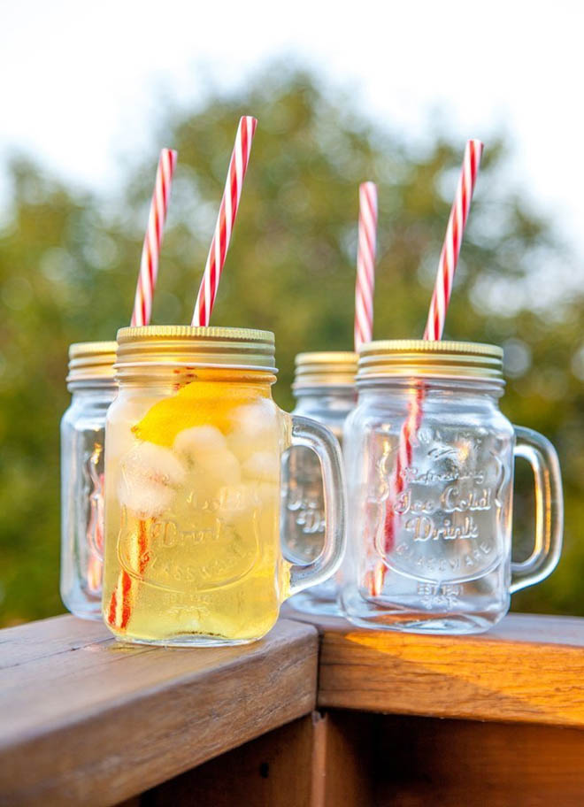 4 - Mason Jar Mugs with Handle