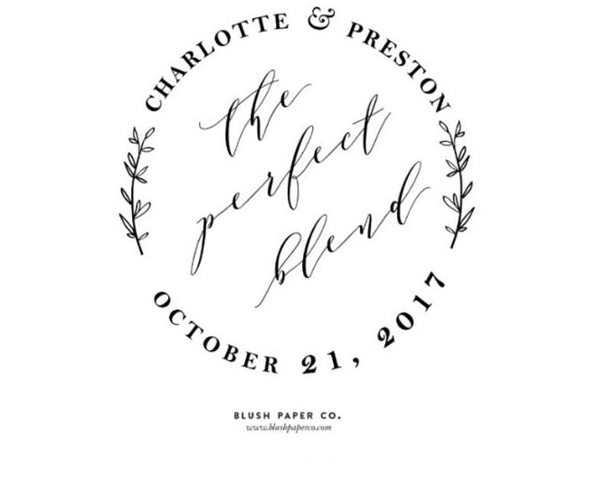 Perfect Blend Save the Date Wedding Stamp via Zazzle