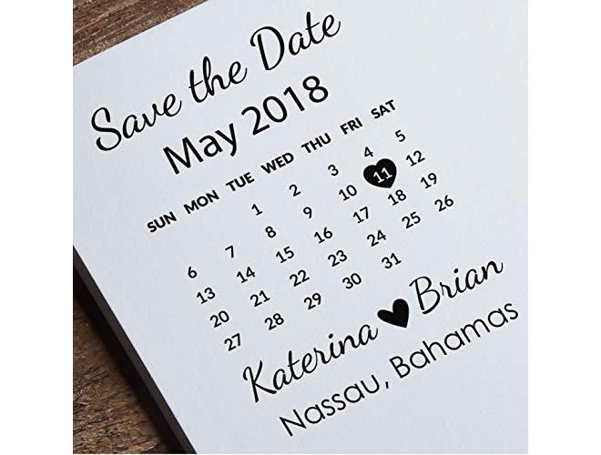 Calendar Custom Save the Date
