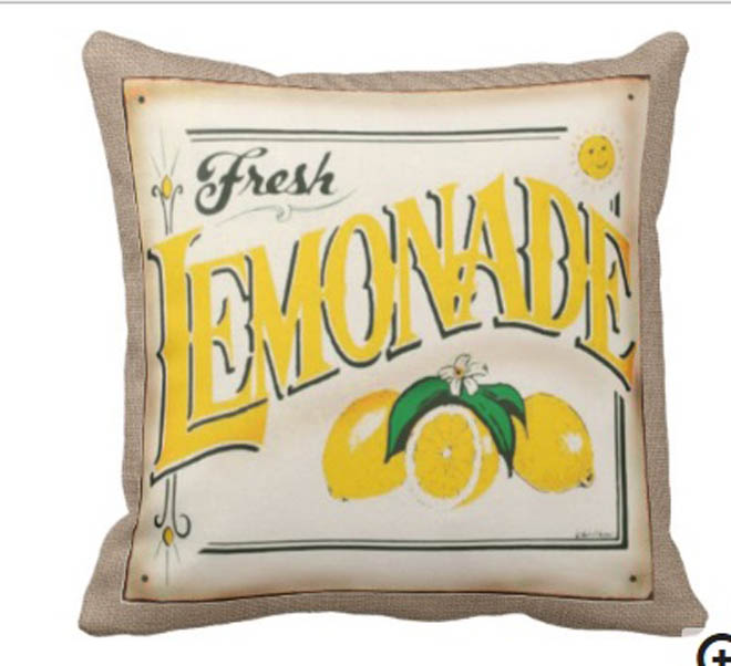 6 - Farm Fresh Country Lemonade Throw Pillow