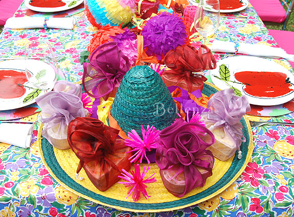 Colorful decorations for a Cinco de Mayo party.
