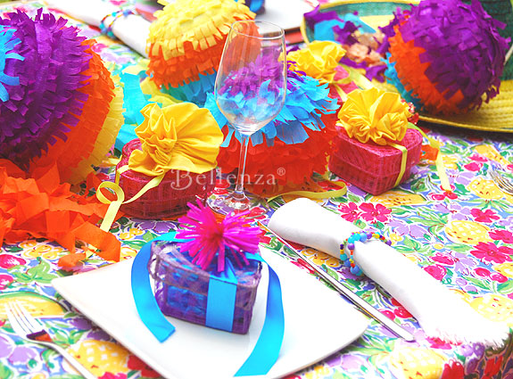 Cinco de Mayo party fiesta tablescape and decor.