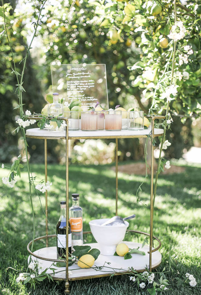 Elegant Bar Cart Display