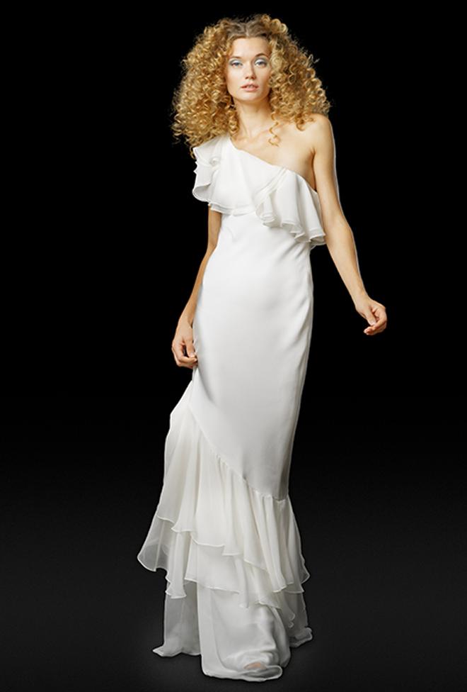from Elizabeth Fillmore one-shoulder gown