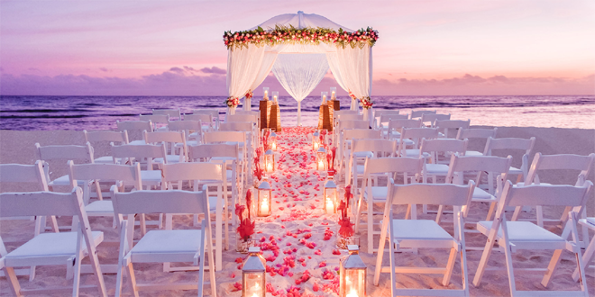 Half Moon Bay Luxury Resort Jamaica Ceremony For Evening Wedding