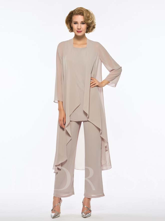 Loose 3-piece Mother of the Bride Pantsuit