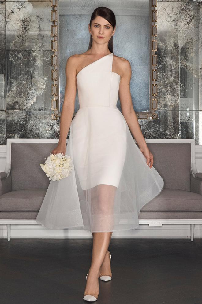 Romona Keveza modern and minimalist knee-length dress