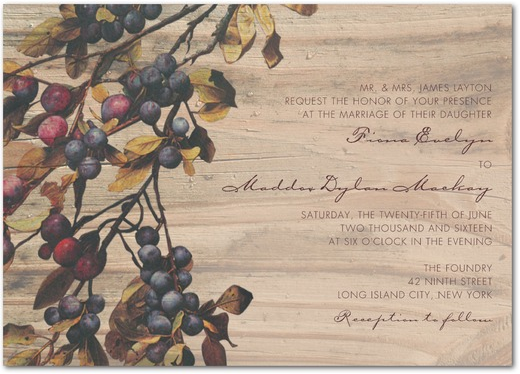 Rustic Vineyard Wedding Invitations