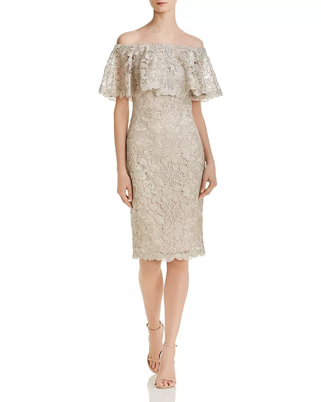Tadashi-Shoji-Off-the-Shoulder Dress