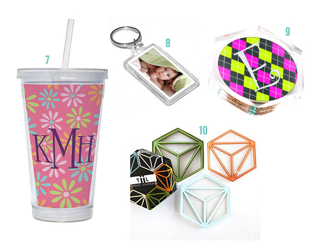 Acrylic Favor Tumblers and Coasters and Keychains