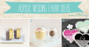 Acrylic Wedding Favor Ideas from Containers to Frames